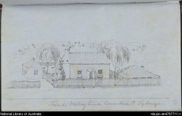 Friends Meeting House, Devonshire St 1854 by Frederick Mackie
